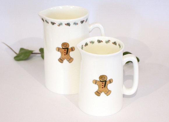 Christmas Gingerbread Man Jugs