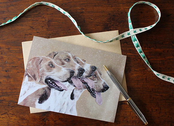 Foxhounds Christmas Card (Trade)