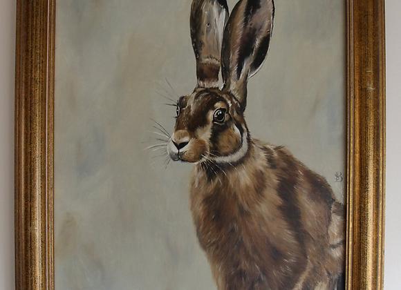 Original Hare Oil Painting
