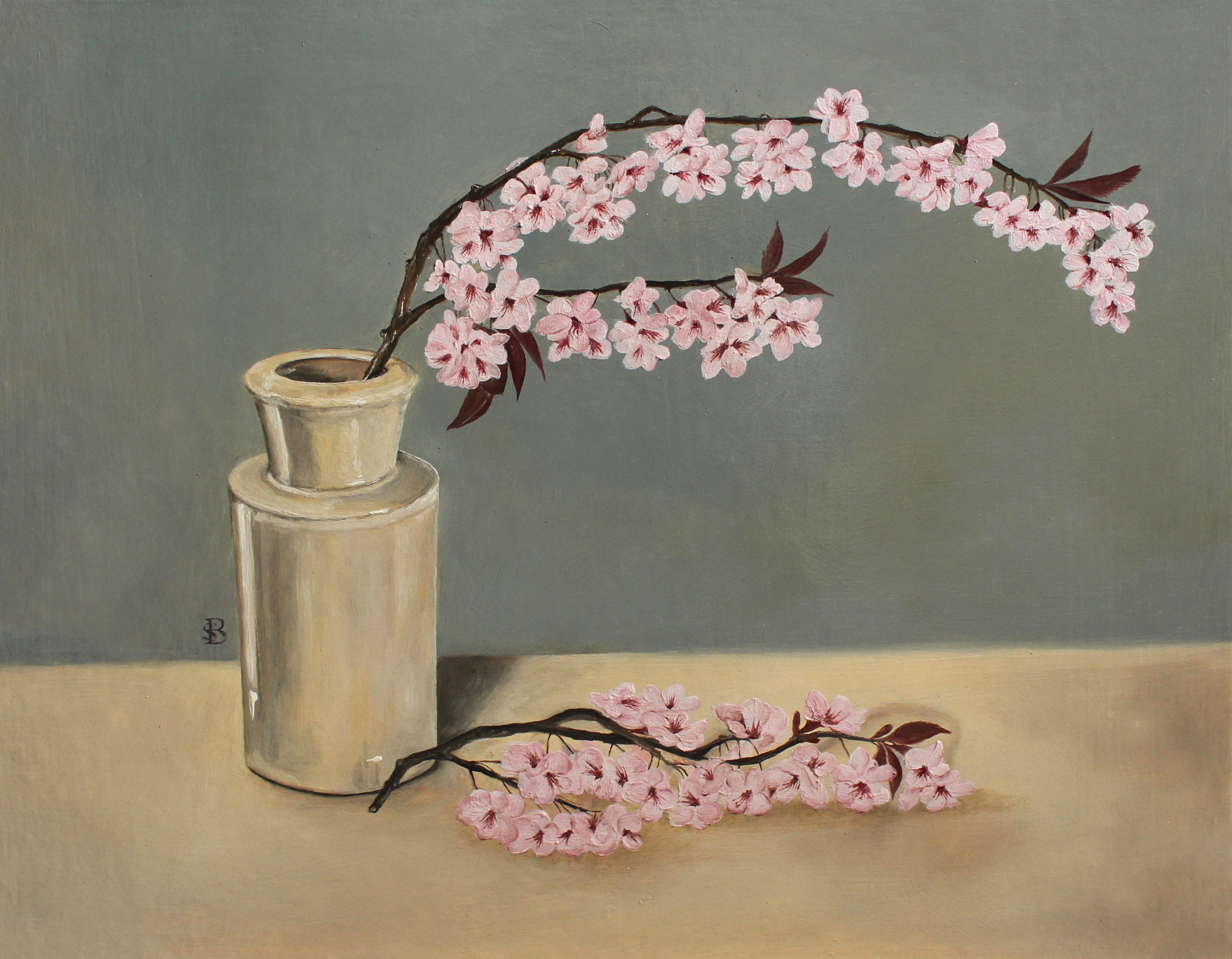 Blossom in Earthware Jar