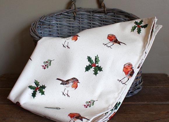 Christmas Robins Tea Towel