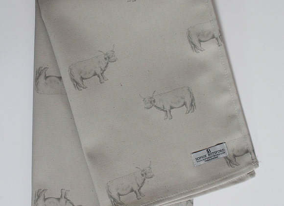 Highland Cow Tea Towel (Trade)