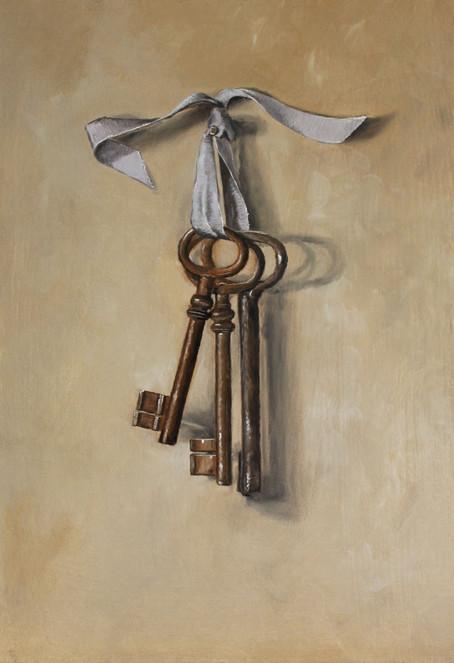 Hanging Antique Keys