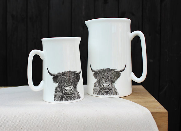 Highland Cow Jugs