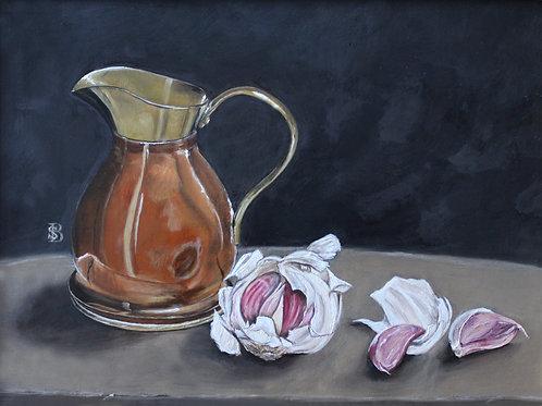 Brass Jug & Garlic