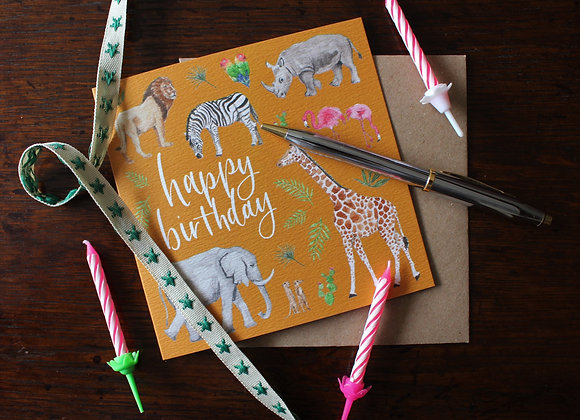 Safari Birthday Card