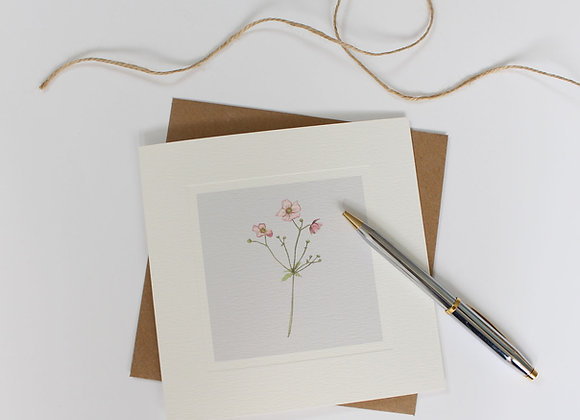 Japanese Anemone Greetings Card (Trade)
