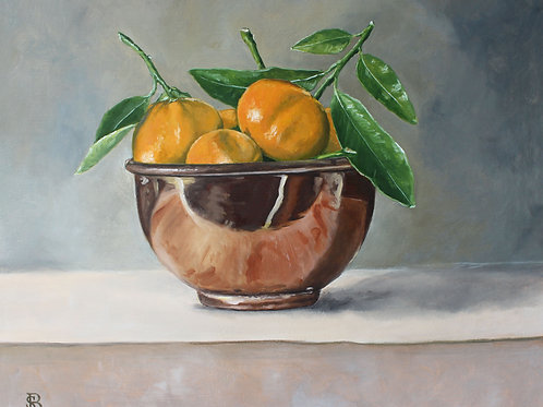 Copper Bowl & Clementines