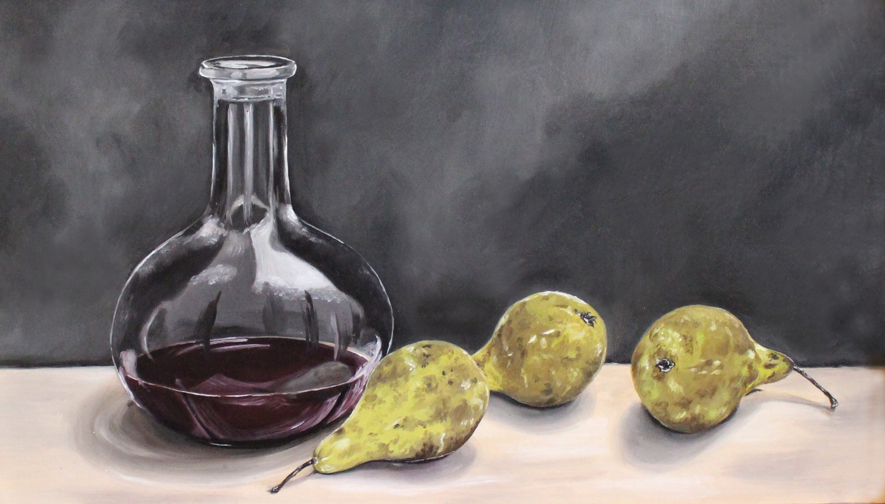 DECANTER OF PORT & PEARS