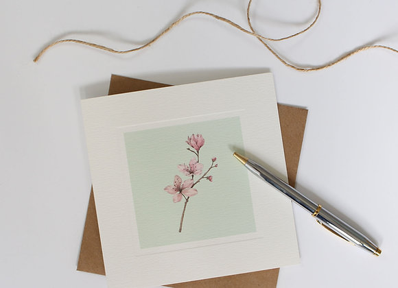 Cherry Blossom Greetings Card (Trade)