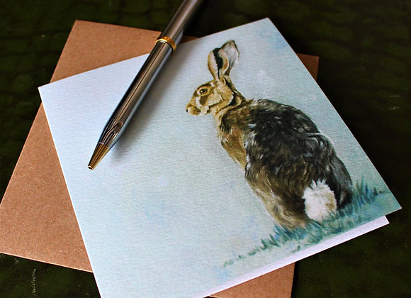 Cotton Tail Hare Greetings Card