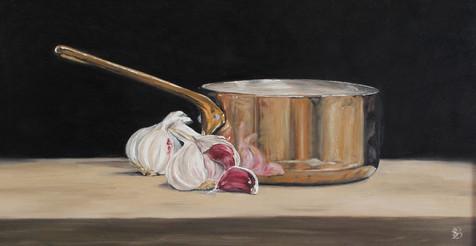 Copper Pan & Garlic