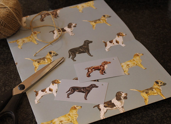 Dog Breeds Wrapping Paper