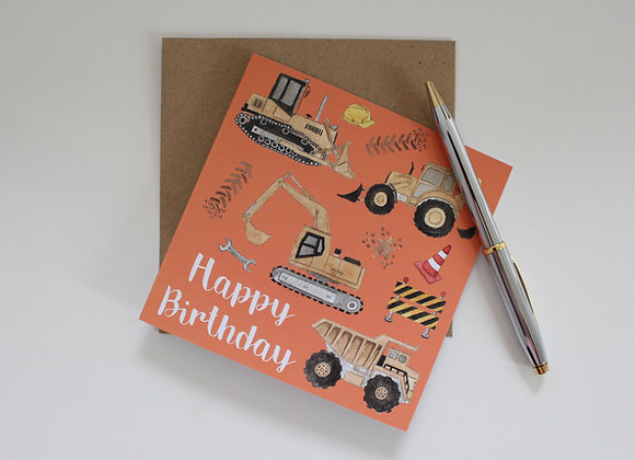 Construction Birthday Card (Trade)
