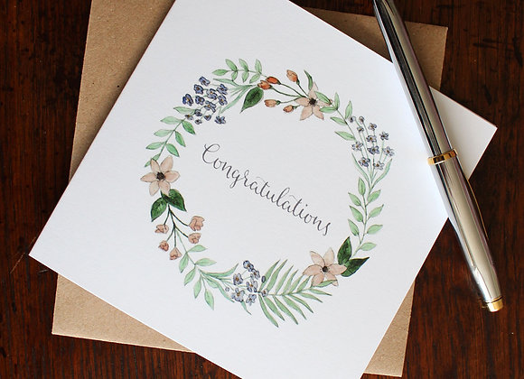 Congratulations Flowers Greetings Card