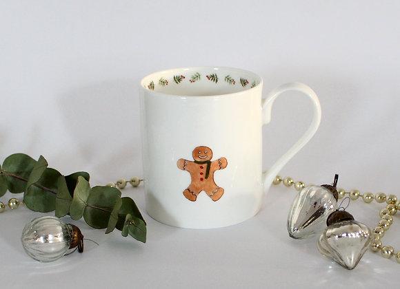 Gingerbread Man Christmas Mug (Trade)
