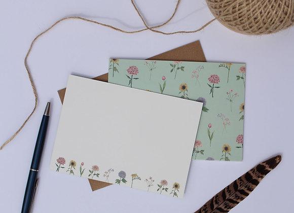 Garden Flower Notelets