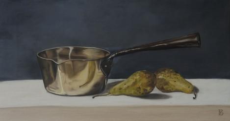 Copper Pan & Pears