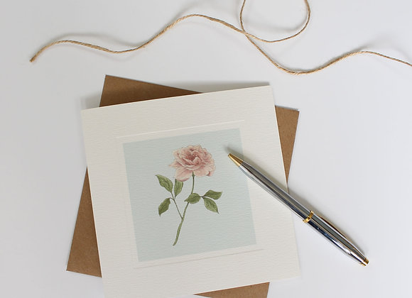 Garden Rose Greetings Card