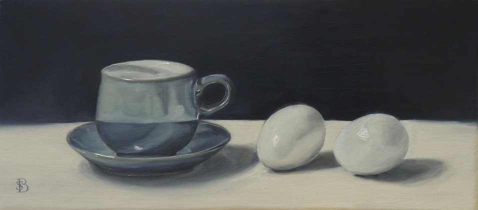 Cup and Saucer with Two Eggs