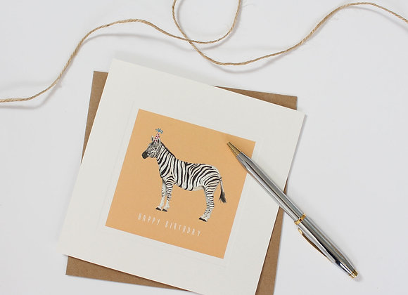 Party Zebra Birthday Card (Trade)