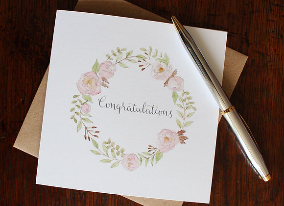 Congratulations Peonies Greetings Card (Trade)