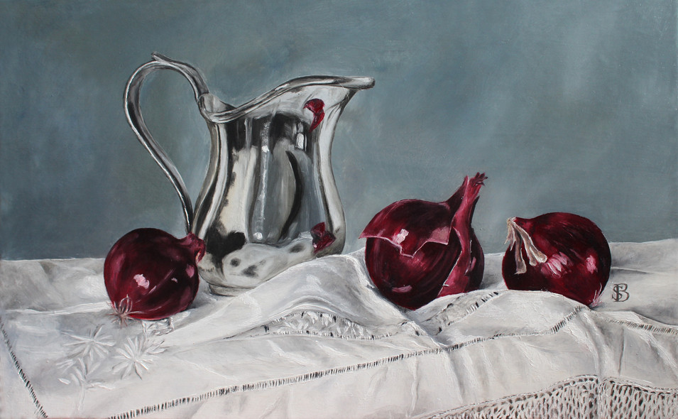 Silver Jug & Red Onions