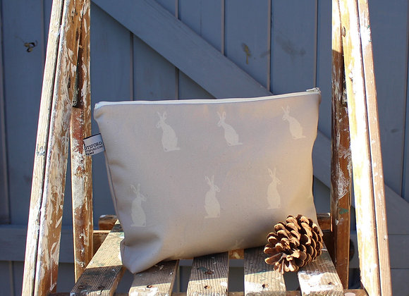 Large Hare Wash Bag