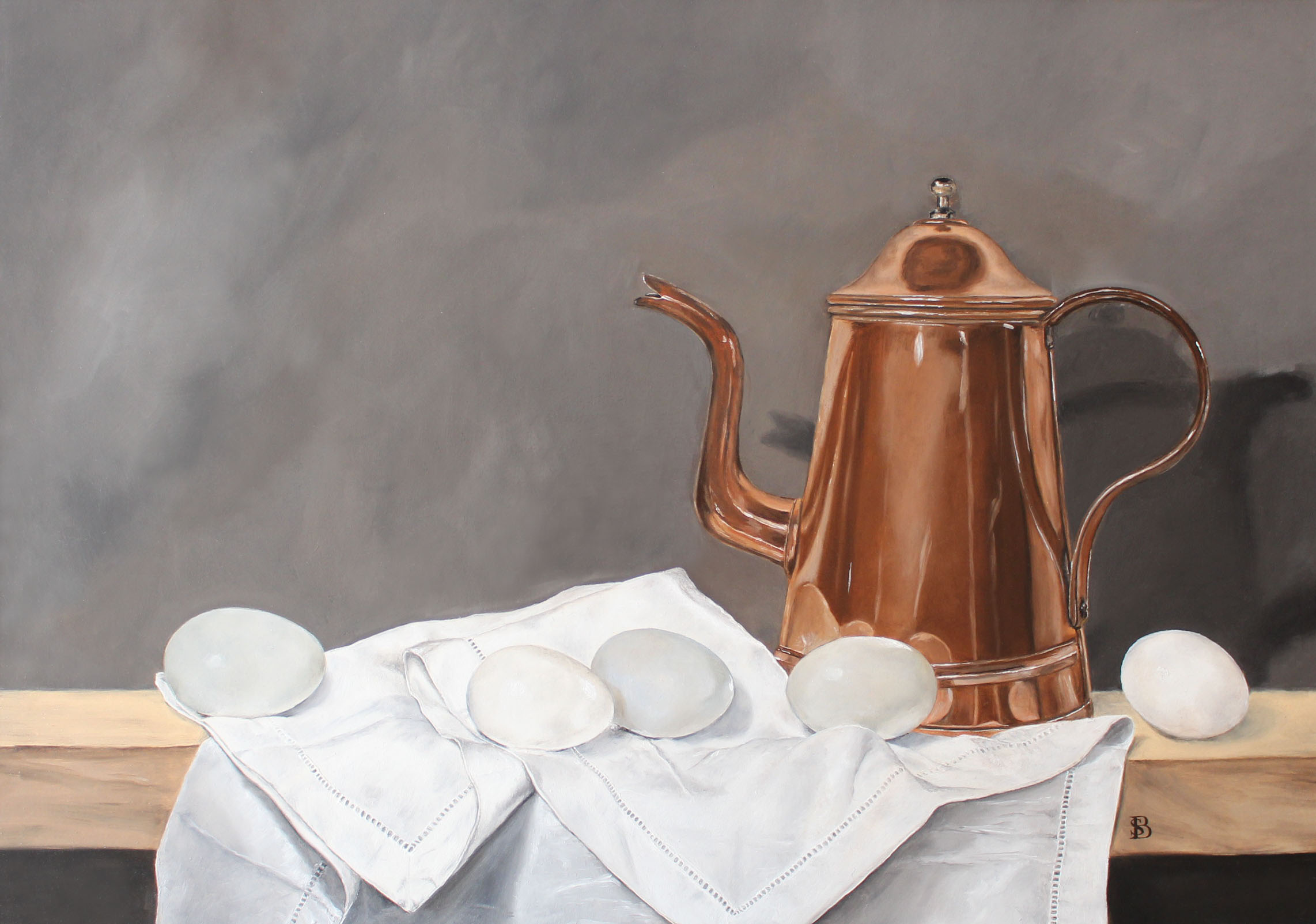 Brass Teapot & Eggs