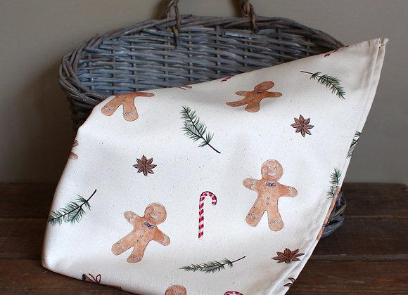 Christmas Gingerbread Men Tea Towel