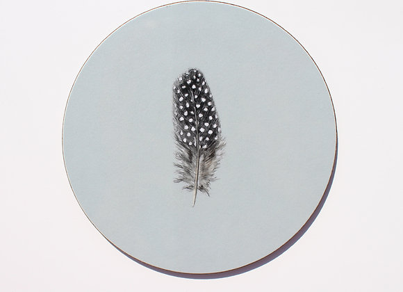 Guinea Fowl Feather Coasters