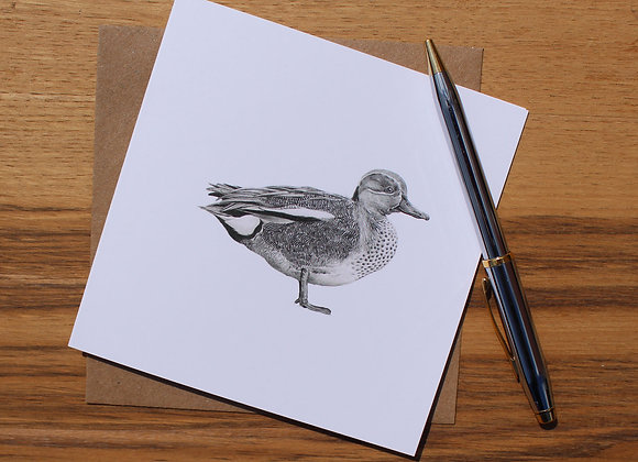Teal Drawing Greetings Card (Trade)