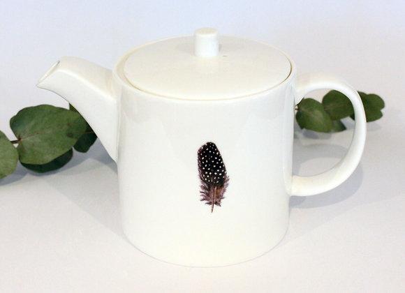 Guinea Fowl Feather Teapot