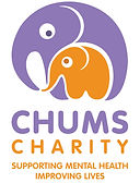 CHUMS Charity purple logo with strapline