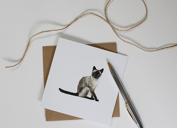Siamese Cat Greetings Card