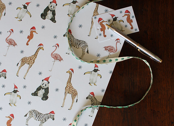 Party Animal Christmas Wrapping Paper