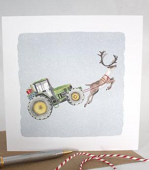 'Farmer Christmas' Christmas Card