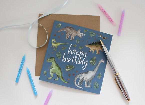 Dinosaur Birthday Card