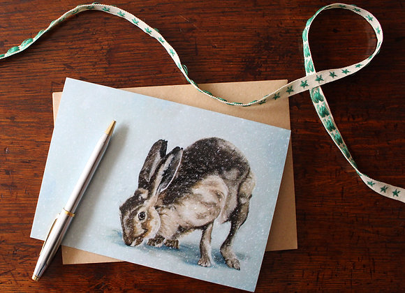 Hare Christmas Card (Trade)