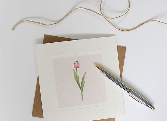 Tulip Greetings Card