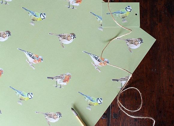 Garden Birds Wrapping Paper