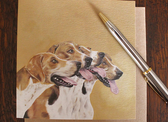 Foxhounds Greetings Card