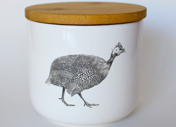 Guinea Fowl Storage Jar