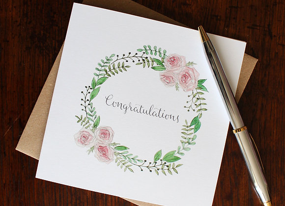 Congratulations Roses Greetings Card (Trade)