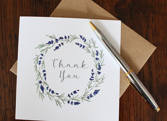 Thank You Lavender Greetings Card