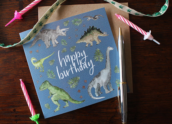 Dinosaur Birthday Card (Trade)
