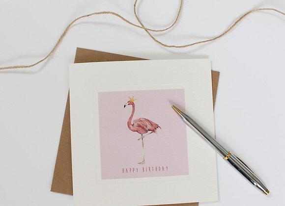 Party Flamingo Birthday Card