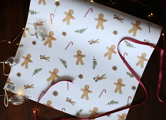 Gingerbread Man Christmas Wrapping Paper (Trade)