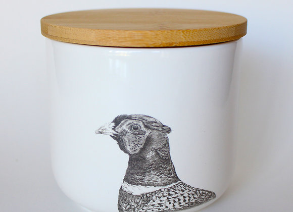 Pheasant Storage Jar