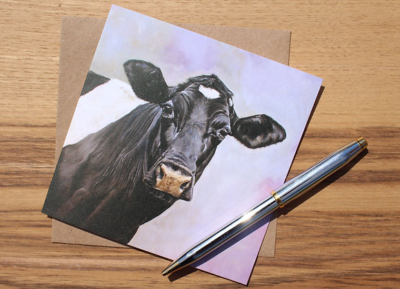 Friesian Cow Greetings Card (Trade)